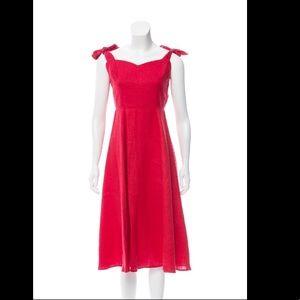 Reformation Backless Linen Midi Dress